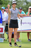 Michelle Wie (USA) prepares to tee off on 9 during round 2 of  the Volunteers of America Texas Shootout Presented by JTBC, at the Las Colinas Country Club in Irving, Texas, USA. 4/28/2017.<br /> Picture: Golffile | Ken Murray<br /> <br /> <br /> All photo usage must carry mandatory copyright credit (&copy; Golffile | Ken Murray)