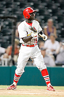 July 13, 2009:  Third Baseman Jermaine Curtis of the Palm Beach Cardinals during a game at Hammond Stadium in Ft. Myers, FL.  Palm Beach is the Florida State League High-A affiliate of the St. Louis Cardinals.  Photo By Mike Janes/Four Seam Images