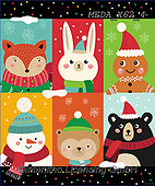 Dreams, CHRISTMAS ANIMALS, WEIHNACHTEN TIERE, NAVIDAD ANIMALES, paintings+++++,MEDAX62/4,#XA# ,sticker,stickers