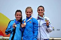 BRASÍLIA, DF, 30.11.2013 – GYMNASIADE 2013 – JOGOS MUNDIAIS ESCOLARES – Cerimônia de premiação dos dos 400m femininos nos Jogos Mundiais Escolares, neste sábado, 30. Os jogos reúnem cerca de 40 países e mais de mil estudantes/atletas entre os dias 28 de novembro a 3 de dezembro em Brasília. (Foto: Ricardo Botelho / Brazil Photo Press).