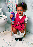 Girl toilet training