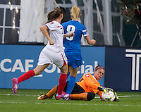 Washington, DC - October 21, 2014: Costa Rica defeated Martinique 6-1 during their final group game of the CONCACAF Women's Championship at RFK Stadium.
