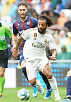 Real Madrid's Marcelo Vieira (f) and Levante UD's Ruben Rochina during La Liga match. September 14,2019. (ALTERPHOTOS/Acero)