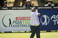 Kiradech Aphibarnrat (THA) in action on the 2nd during Round 1 of the ISPS Handa World Super 6 Perth at Lake Karrinyup Country Club on the Thursday 8th February 2018.<br /> Picture:  Thos Caffrey / www.golffile.ie<br /> <br /> All photo usage must carry mandatory copyright credit (&copy; Golffile | Thos Caffrey)
