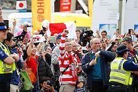 Japan supporters - Mandatory byline: Rogan Thomson - 23/09/2015 - RUGBY UNION - Kingsholm Stadium - Gloucester, England - Scotland v Japan - Rugby World Cup 2015 Pool B.
