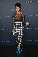 Janelle Monae at the premiere for &quot;Annihilation&quot; at the Regency Village Theatre, Los Angeles, USA 13 Feb. 2018<br /> Picture: Paul Smith/Featureflash/SilverHub 0208 004 5359 sales@silverhubmedia.com