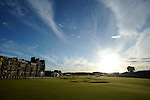 17TH JULY 2010, OPEN 2010 THIRD ROUND AT ST ANDREWS, LANDSCAPE OF 18TH GREEN AND FAIRWAY, ROB CASEY PHOTOGRAPHY.