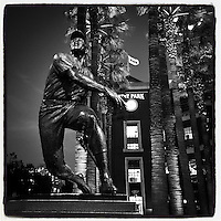 SAN FRANCISCO, CA - OCTOBER 13: Instagram of the Willie Mays statue outside the ballpark before Game 3 of the NLCS between the St. Louis Cardinals and San Francisco Giants at AT&T Park on October 13, 2014 in San Francisco, California. Photo by Brad Mangin