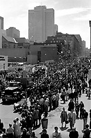 FILE PHOTO -  stanley cup<br /> parade in downtown Montreal in the seventies<br /> <br /> Montreal's hockey team LES CANADIENS won the Stanly Cuo every season of that decade.<br /> <br /> PHOTO : Alain Renaud - Agence Quebec Presse
