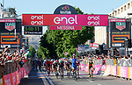 Fernando Gaviria (COL) Quick-Step Floors wins Stage 5 of the 100th edition of the Giro d'Italia 2017, running 159km from Pedara to Messina, Sicily, Italy. 10th May 2017.<br /> Picture: LaPresse/Simone Spada | Cyclefile<br /> <br /> <br /> All photos usage must carry mandatory copyright credit (&copy; Cyclefile | LaPresse/Simone Spada)