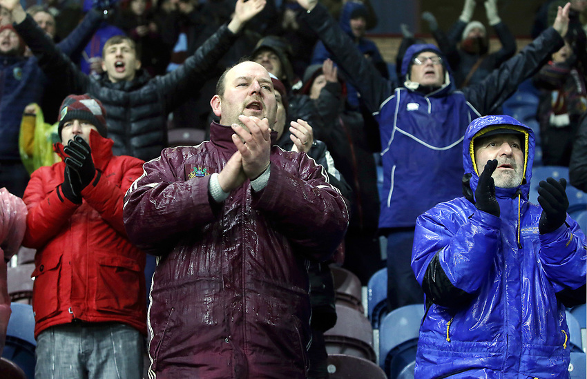 Burnley fans applaud their side as they celebrate at the final whistle<br /> <br /> Photographer Rich Linley/CameraSport<br /> <br /> The Premier League - Burnley v Brighton and Hove Albion - Saturday 8th December 2018 - Turf Moor - Burnley<br /> <br /> World Copyright © 2018 CameraSport. All rights reserved. 43 Linden Ave. Countesthorpe. Leicester. England. LE8 5PG - Tel: +44 (0) 116 277 4147 - admin@camerasport.com - www.camerasport.com
