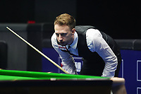 31st October 2019, Yushan, Jiangxi Province, China; Judd Trump of England reacts during the round of 16 match against his compatriot Joe Perry at 2019 Snooker World Open in Yushan