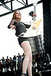 Lzzy Hale of Halestorm performs during the 2013 Rock On The Range festival at Columbus Crew Stadium in Columbus, Ohio.