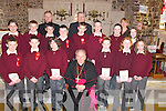 Bishop Bill Murphy confirmed the pupils of Kilmoyley National School on Thursday in St Brendans Church, Ardfert. Front l-r: John Godley, Peter Crowe, Lorna Sheahan, Saidhbhe Horgan, Aislinn Dowling and Rachel McElligott. Centre l-r: Richard Raftery, Daniel Collins, Colman Savage, Joseph O'Connor, Florence McCarthy, Michael Culloty, Katie Brassil and Erin Lonergan. Back l-r: Fr Liam Lovell, Fr Denis Leahy and Aine Crowe (Teacher)..