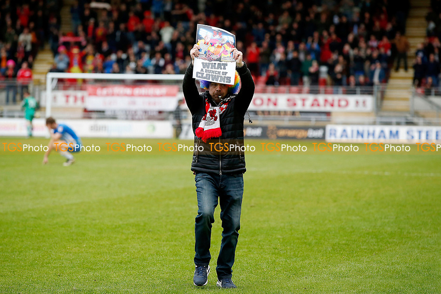 O's fans protest at FT during Leyton Orient vs Hartlepool United, Sky Bet EFL League 2 Football at the Matchroom Stadium on 17th April 2017