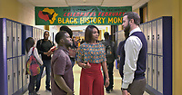 Night School (2018) <br /> KEVIN HART, TIFFANY HADDISH and TARAN KILLAM <br /> *Filmstill - Editorial Use Only*<br /> CAP/FB<br /> Image supplied by Capital Pictures