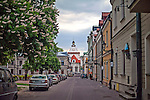Katedra Zmartwychwstania Pańskiego i Św. Tomasza Apostoła od ulicy Żeromskiego. Zamość