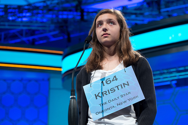 Speller 164 Kristin A. Ratliff competes in the preliminary rounds of the Scripps National Spelling Bee at the Gaylord National Resort and Convention Center in National Habor, Md., on Wednesday,  May 30, 2012. Photo by Bill Clark