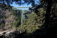 Thomas Creek Bridge crosses Thomas Creek north of Brookings, Oregon, on US Route 101 and within the boundaries of Samuel H. Boardman State Scenic Corridor. The Warren deck truss bridge is the highest in Oregon, at 345 feet tall. The Thomas Creek bridge has a length of 956 feet and was built in 1961.
