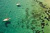 Pleasure boats off the island of Formentera, Ibiza Spain