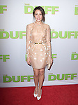 Italia Ricci attends The CBS Films Los Angeles fan screening of THE DUFF held at The TCL Chinese 6 Theater  in Hollywood, California on February 12,2015                                                                               © 2015 Hollywood Press Agency