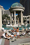 A swimming pool in Las Vegas, Nevada, NV, Las Vegas, city, swimming pool at Caesars Palace and Casino, no model release, sunny, Photo nv287-17181..Copyright: Lee Foster, www.fostertravel.com, 510-549-2202,lee@fostertravel.com