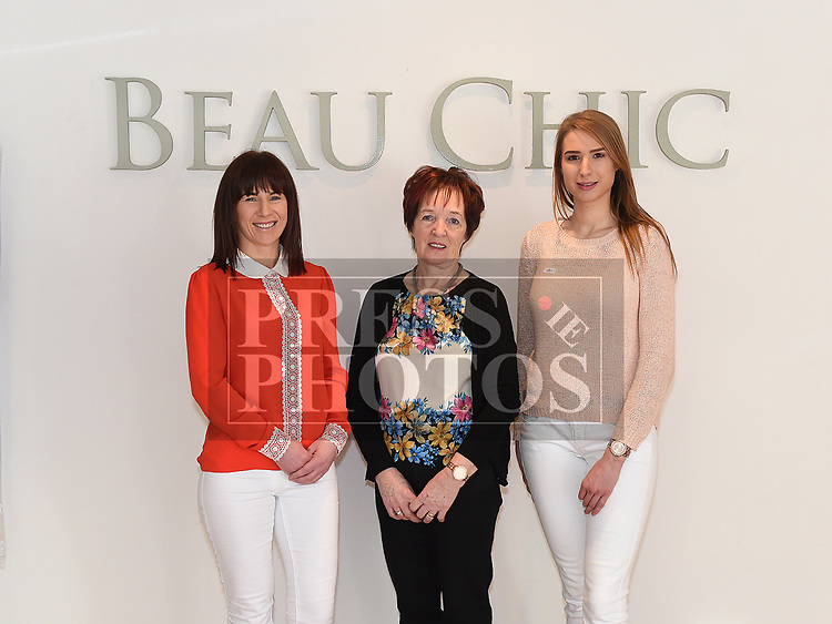 Sabrina, Kathleen and Ciara from Beau Chic Bridal Studio. Photo:Colin Bell/pressphotos.ie