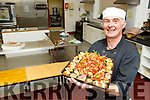 Chef Shay Riordan (Listowel) providing the refreshments in the An Tochar Education centre in Causeway on Monday.