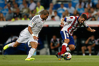 13.09.2014 SPAIN -  La Liga 14/15 Matchday 03th  match played between Real Madrid CF vs Atletico de Madrid Bernabeu stadium. The picture show Kepler Laveran Pepe (Portuguese/Brazilian defender of Real Madrid) Jorge Resurreccion Koke (Spanish midfielder of At. Madrid)