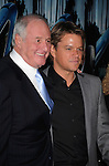 "HOLLYWOOD, CA - MARCH 22: Jerry Weintraub and Matt Damon attend HBO's ""His Way"" Los Angeles Premiere at Paramount Theater on the Paramount Studios lot on March 22, 2011 in Hollywood, California."