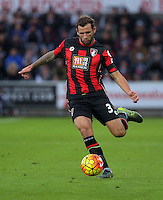 Steve Cook of Bournemouth  during the Barclays Premier League match between Swansea City and Bournemouth at the Liberty Stadium, Swansea on November 21 2015