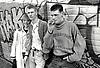 Group of young people smoking, UK 1989
