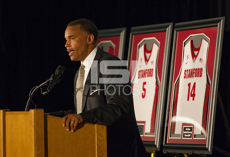 STANFORD., CA., APRIL 13, 2015, Stanford Men's Basketball Awards Banquet at Dallier Court inside the Arrellaga Family Sport Center at Stanford University.