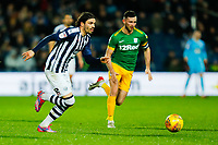 25th February 2020; The Hawthorns, West Bromwich, West Midlands, England; English Championship Football, West Bromwich Albion versus Preston North End; Filip Krovinovic of West Bromwich Albion runs past Andrew Hughes of Preston North End