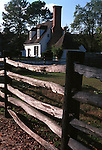 White house with split rail fence Colonial Williamsburg Virginia, Fine Art Photography by Ron Bennett, Fine Art, Fine Art photography, Art Photography, Copyright RonBennettPhotography.com ©
