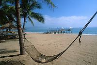Hammock , plam trees and dock, Nha Trang, Vietnam