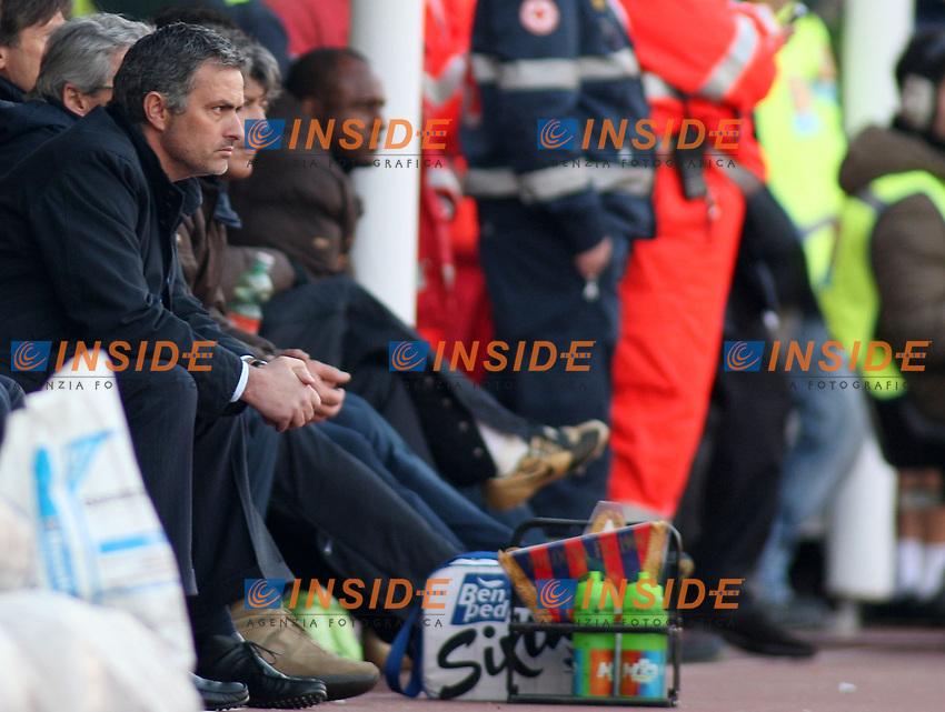 Jose Mourinho <br /> Inter's coach Jose Mourinho during their italian serie A soccer match at Dall'Ara Stadium in Bologna , Italy , February 21 , 2009 - Photo: Prater/Insidefoto ©
