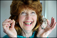 Grandmother finds real pearl in her oyster.