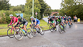 8th September 2017, Newmarket, England; OVO Energy Tour of Britain Cycling; Stage 6, Newmarket to Aldeburgh; MARCOTTE Eric of Cylance Pro Cycling and RICHEZE Ariel Maximiliano of Quick-Step Floors