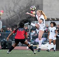JSerra Catholic High School's Samantha Hobert sends it downfield.