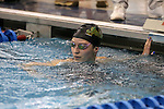 18 February 2016: Notre Dame's Alice Treuth competes in the Women's 500 Freestyle preliminary Heat 3. The 2016 Atlantic Coast Conference Swimming and Diving Championships were held at the Greensboro Aquatic Center in Greensboro, North Carolina from February 17-27, 2016.