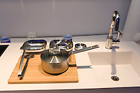 Objets on display inside Finnish Pavilion 'Kirnu' at Shanghai World Expo 2010, in Shanghai, China, on April 27, 2010. Photo by Lucas Schifres/Pictobank