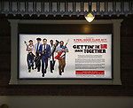 Theatre Marquee unveiling for Broadway's 'Gettin' the Band Back Together' on May 4, 2018 at the Belasco Theatre in New York City.