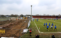 General view of the Stadium where building work is carried out onto a new stand during the UEFA Youth League round of 16 match between Tottenham Hotspur U19 and Monaco at Tottenham Hotspur Training Ground, Hotspur Way, England on 21 February 2018. Photo by Andy Rowland.