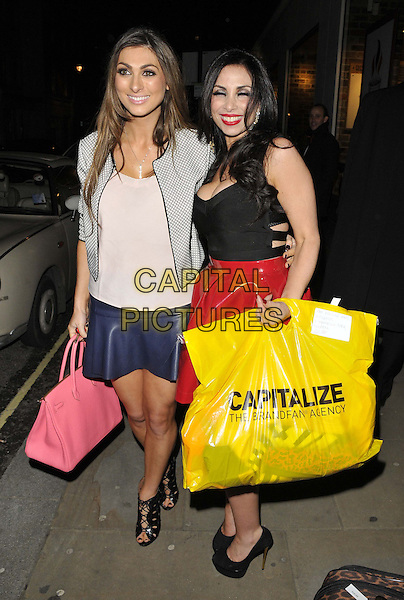 LONDON, ENGLAND - FEBRUARY 25: Luisa Zissman &amp; Francine Lewis attend the Total Mink ethically produced mink fur eyelashes new line launch party, Sanctum Soho Hotel, Warwick St., on Tuesday February 25, 2014 in London, England, UK.<br /> CAP/CAN<br /> &copy;Can Nguyen/Capital Pictures