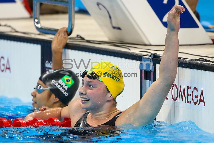 Picture by Alex Whitehead/SWpix.com - 11/09/2016 - 2016 Rio Paralympic Games - Swimming - Olympic Aquatics Stadium, Rio de Janeiro, Brazil - Maddison Elliott of Australia competes in the Women's 100m Freestyle S8 Final.