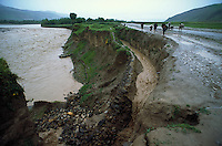 Irrigation channel damaged from erosion