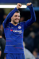 Mateo Kovacic celebrates Chelsea's 3-1 victory at the final whistle during Chelsea vs Crystal Palace, Premier League Football at Stamford Bridge on 4th November 2018