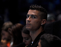 Cristiano Ronaldo in the corporate seats <br /> <br /> Photographer Hannah Fountain/CameraSport<br /> <br /> International Tennis - Nitto ATP World Tour Finals Day 2 - O2 Arena - London - Monday 12th November 2018<br /> <br /> World Copyright &copy; 2018 CameraSport. All rights reserved. 43 Linden Ave. Countesthorpe. Leicester. England. LE8 5PG - Tel: +44 (0) 116 277 4147 - admin@camerasport.com - www.camerasport.com
