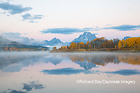 67545-09218 Sunrise at Oxbow Bend in fall; Grand Teton National Park; WY